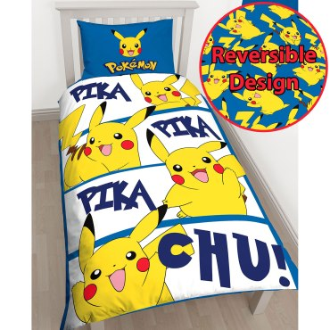 Pokemon Pikachu Single Duvet Cover Set POK002