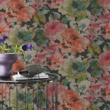 RAS139-Florentine-Floral-Wallpaper-Black-Pink-EA5