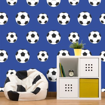 FOT021 - Goal Football Wallpaper - Dark Blue 9721 Belgravia Decor