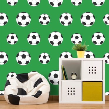 FOT023 -Goal Football Wallpaper - Green 9723 Belgravia Decor