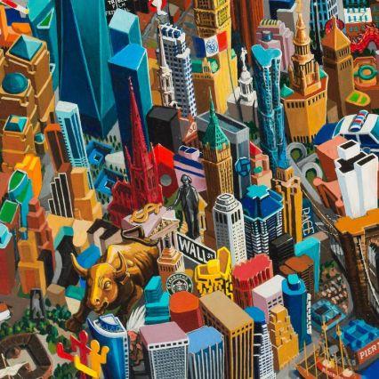 new york city 215 x 150 cm oil on canvas 2015 Vuk Vuckovic_768x768
