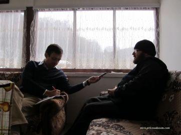 U razgovoru sa ocem Dimitrijem, igumanom manastira