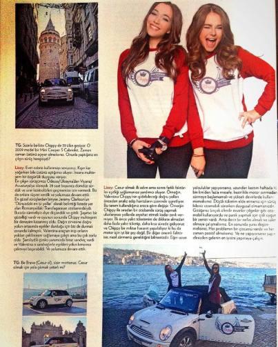 Dok su vozile mini, Lizi i drugarica dale su brojne intervjue