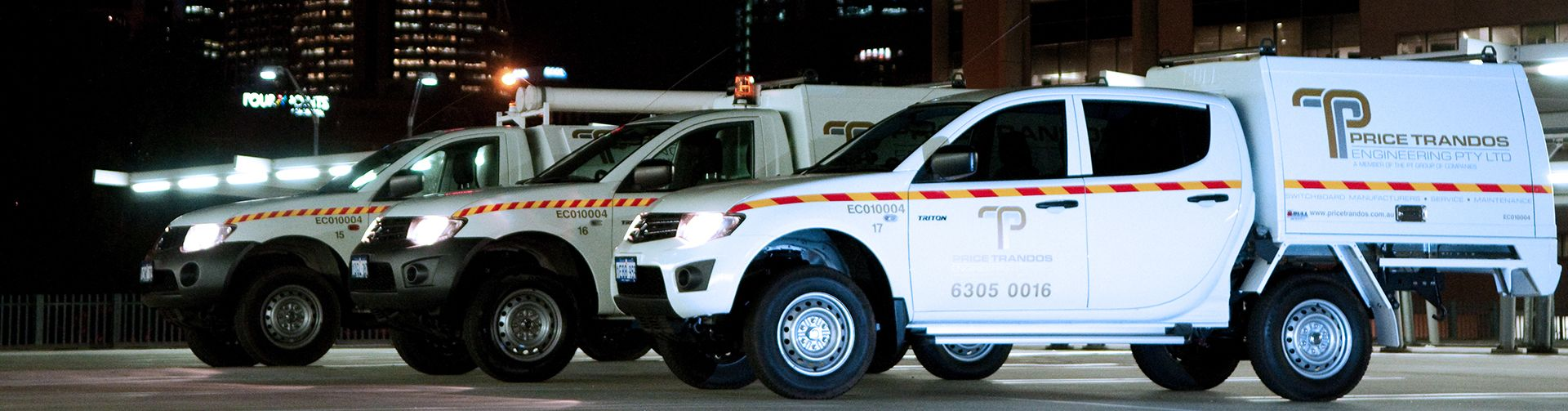 Price Trandos Fleet of Service Vehicles