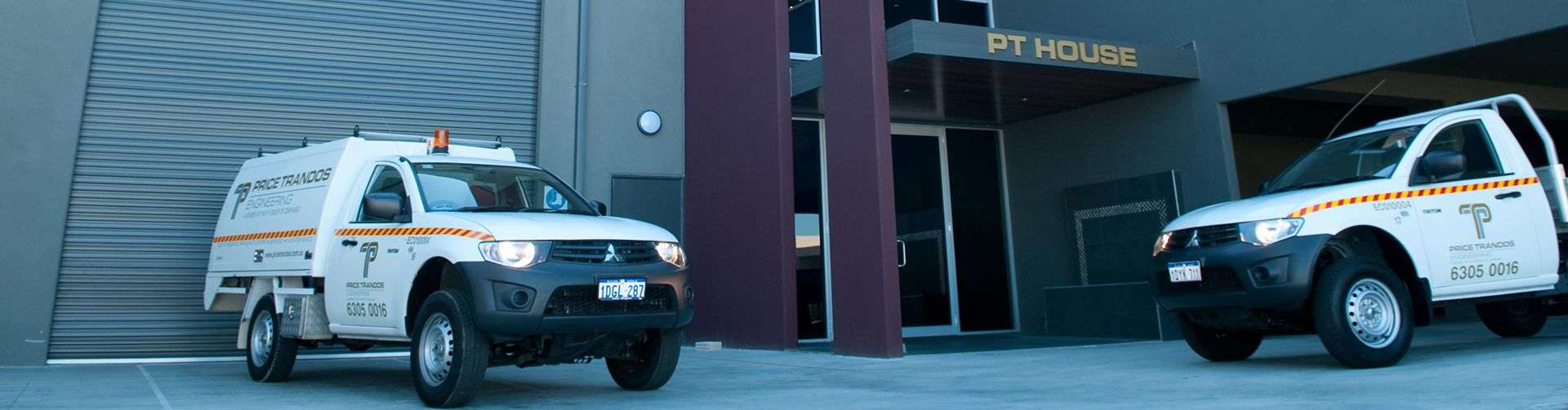price trandos engineering service vehicles at the office