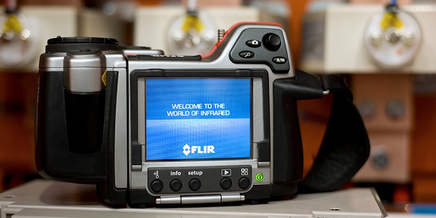 flir thermographic camera used for testing