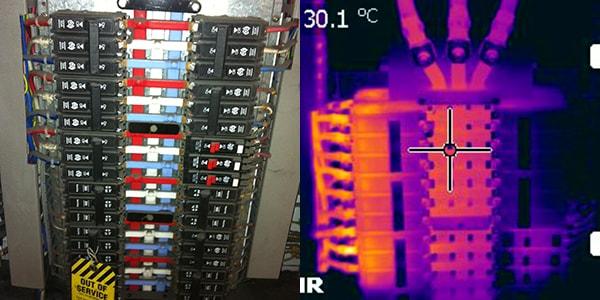 normal camera vs thermographic camera 3