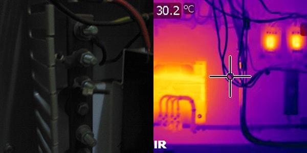 normal camera vs thermographic camera 2