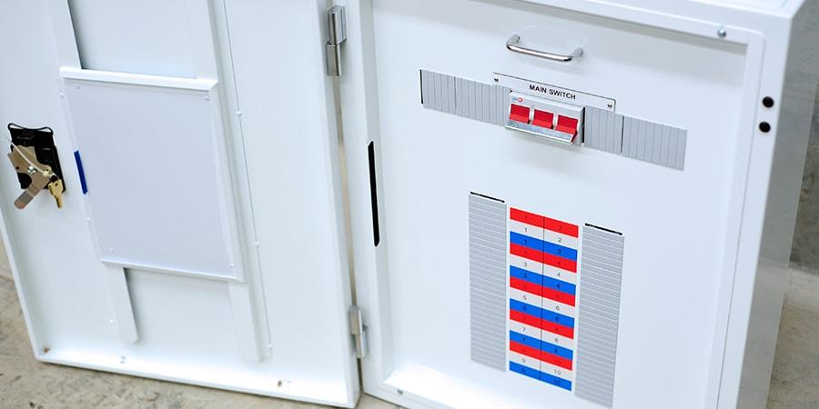 main switch inside a panel board