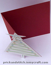 The card is folded along the vertical score line