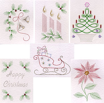 Mini Christmas Stitching Patterns Released At Pinbroidery