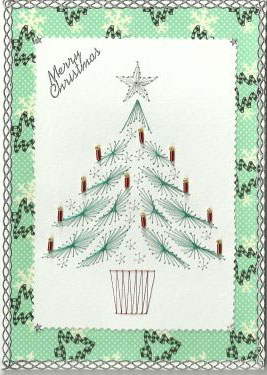 xmas tree forum gallery stitching card of the week - Why Is Christmas Called Xmas