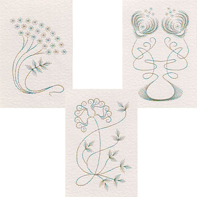 Art Nouveau flowers Form-A-Lines