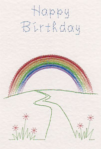 Rainbow pattern at Stitching Cards