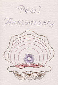 Pearl anniversary pattern at Stitching Cards