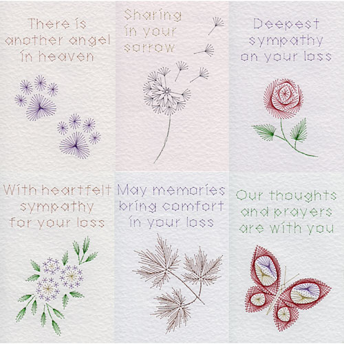 Sympathy patterns at Stitching Cards
