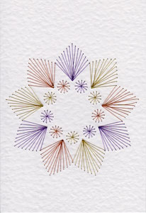 Nine-pointed star pattern at Stitching Cards