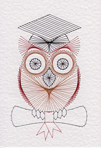 Graduation owl at Stitching Cards
