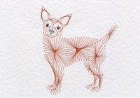 Chihuahua dog pattern at Stitching Cards