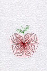 Apple pattern at Stitching Cards