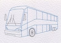 Touring bus pattern at Stitching Cards