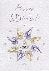 Diwali pattern at Stitching Cards