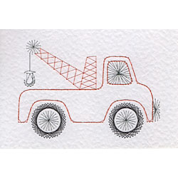 Tow truck pattern added at Stitching Cards