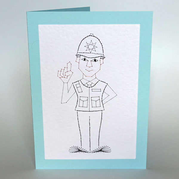 Police officer UK male at Stitching Cards