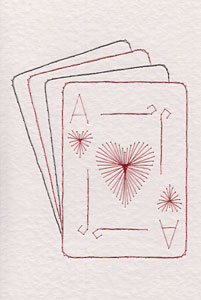 Ace of hearts pattern added at Stitching Cards