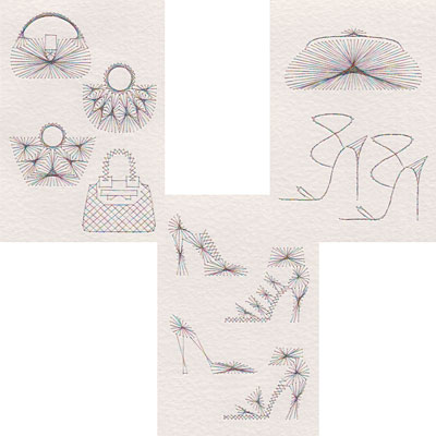 Christmas and Retail Therapy stitching patterns added at Form-A-Lines