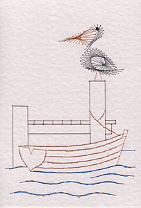 Pelican pattern added at Stitching Cards