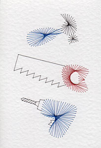 Carpentry tools pattern added at Stitching Cards