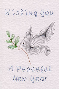 New Year peace pattern added at Stitching Cards