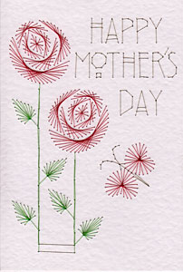 Mother's Day roses pattern added at Stitching Cards