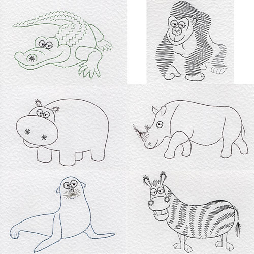 Wild animal patterns added at Stitching Cards