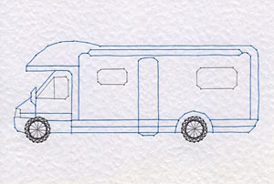 Motorhome pattern added at Stitching Cards
