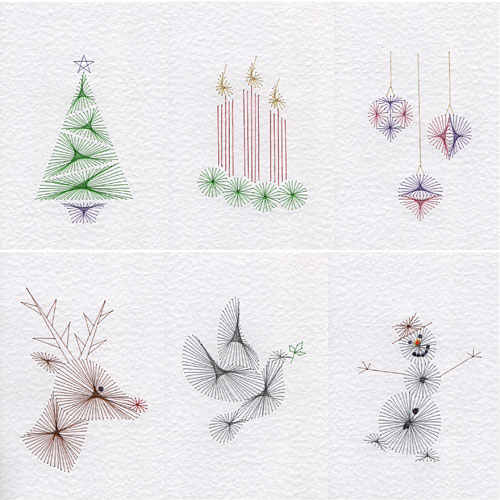 Quick Christmas patterns added at Stitching Cards