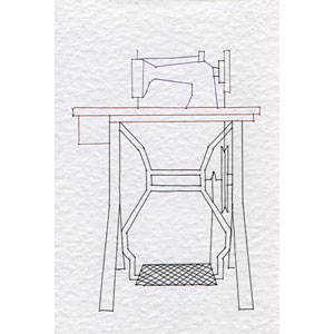 Sewing machine pattern at Stitching Cards