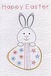 Easter bunny pattern at Stitching Cards