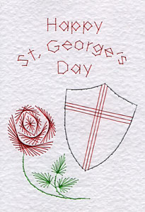 St. George's Day pattern at Stitching Cards