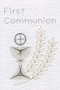 First Communion pattern added at Stitching Cards