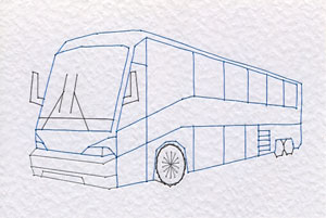 Touring bus pattern added at Stitching Cards