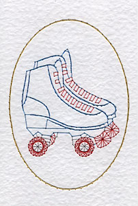 Roller skates pattern added at Stitching Cards