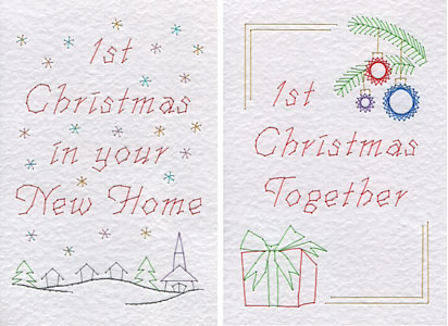 1st Christmas patterns at Stitching Cards