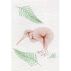 Kiwi bird pattern at Stitching Cards