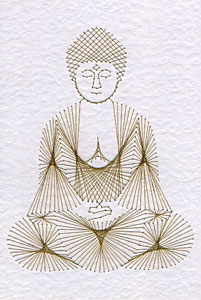 Buddha statue pattern at Stitching Cards