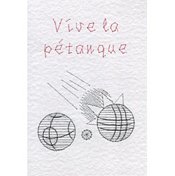 Pétanque pattern added at Stitching Cards