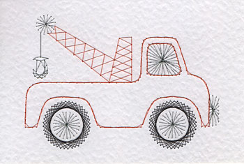 Tow truck pattern at Stitching Cards