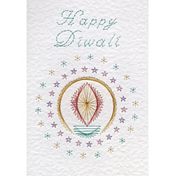 Diwali lamp pattern added at Stitching Cards