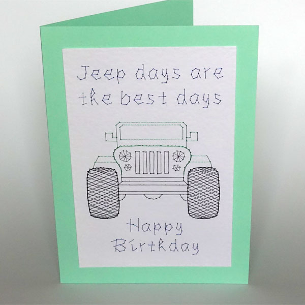 Jeep pattern added at Stitching Cards